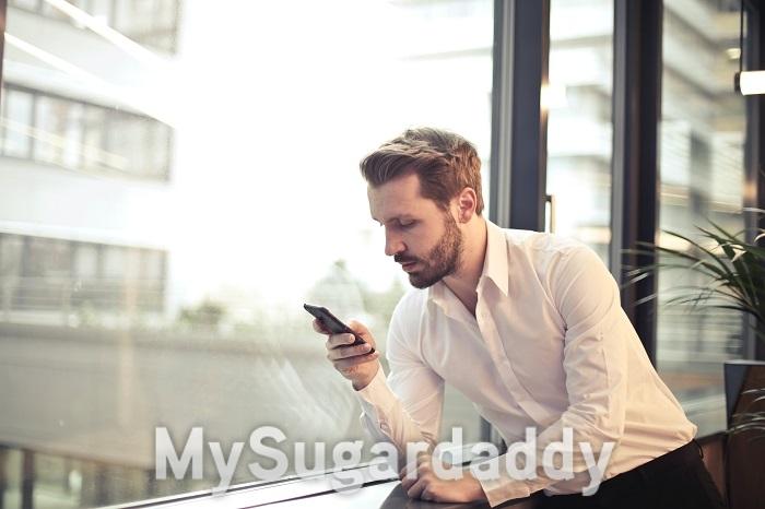 Anmeldung MySugardaddy - Der Sugardaddy am Handy